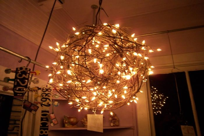 Lit grapevine accents bringing funk to folk pinterest ball grapevine chandelier aloadofball Choice Image