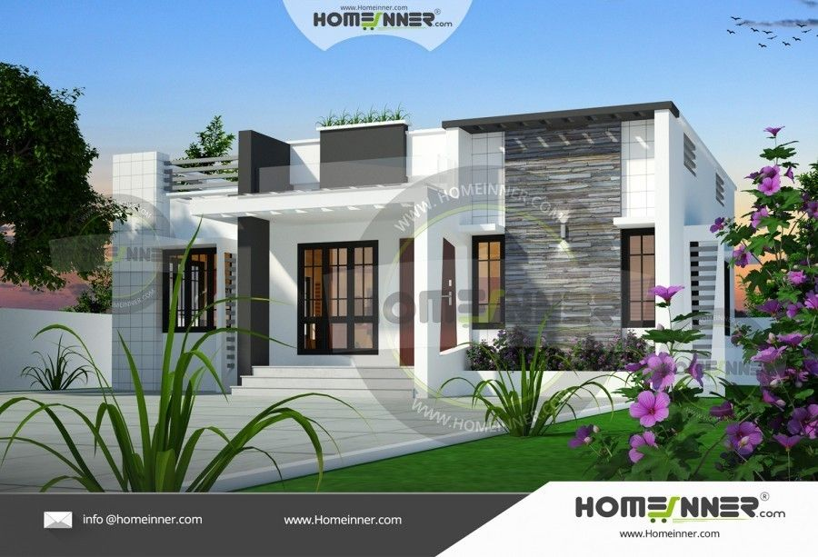 850 Sq Ft 3 Bedroom Low Cost House Plan Homeinner Best Home Design Magazine Architectural House Plans House Front Design House Designs Exterior