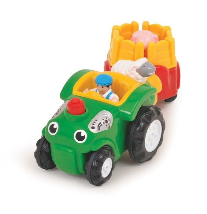Bumpety Bump Bernie Friction Powered Tractor & Wagon by WOW Toys