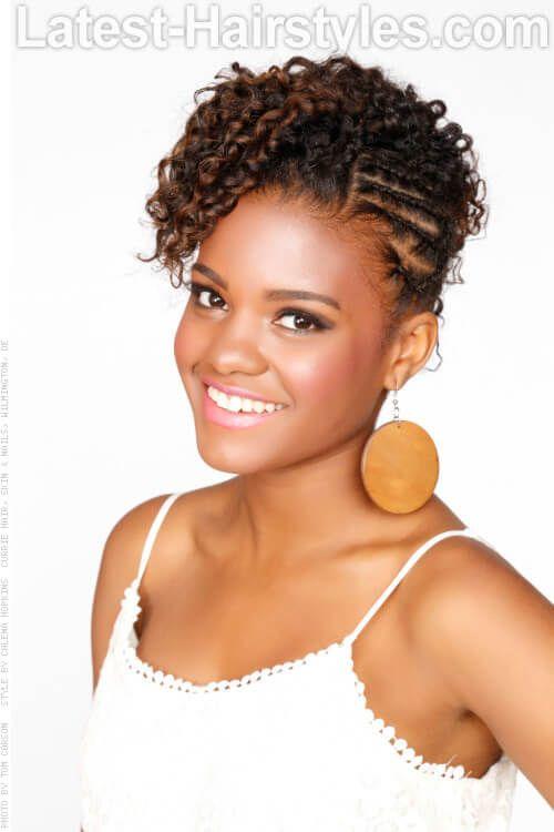 Natural Beauty Updo For Black Women Hair Pinterest Black Women