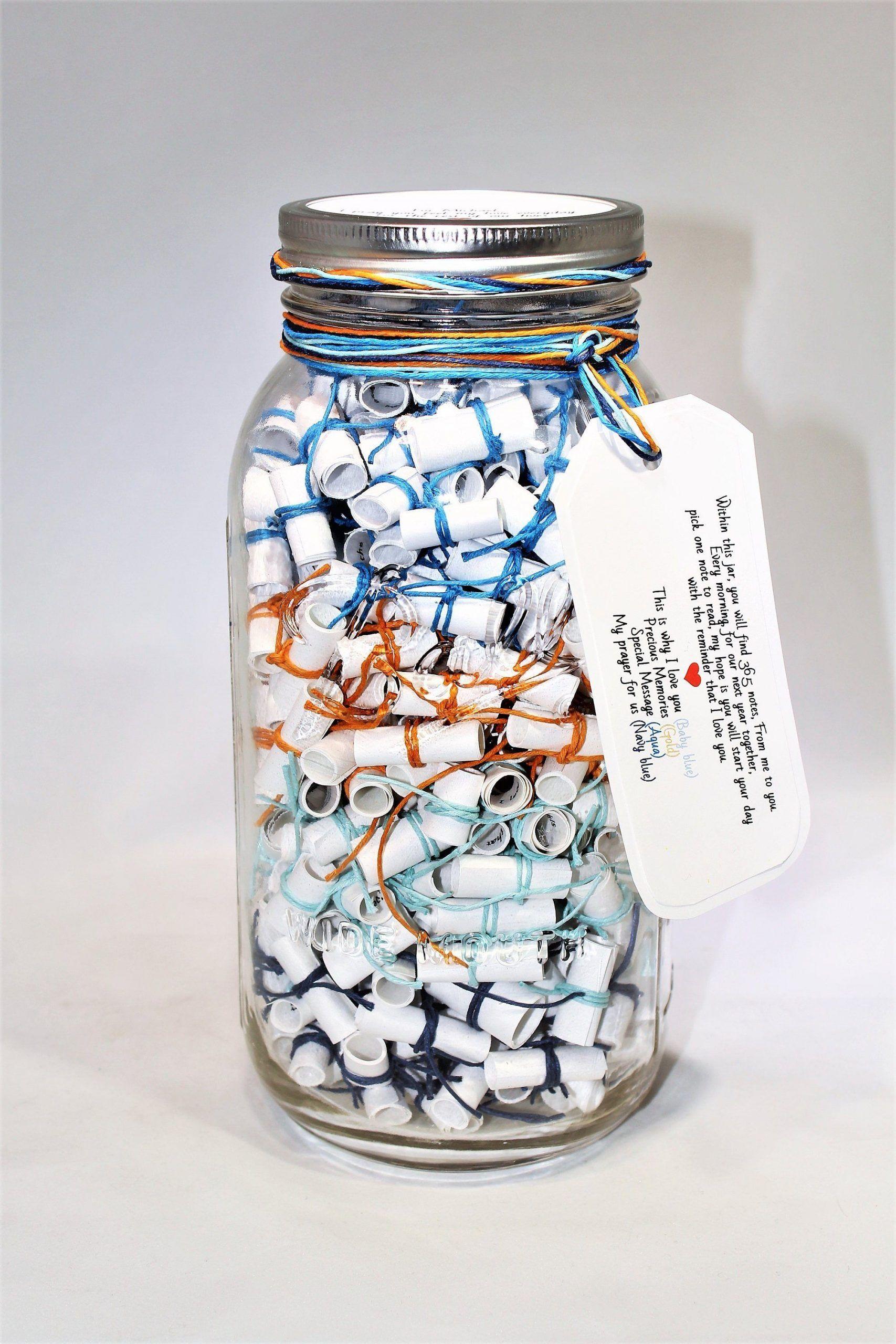 365 Message Filled 64 Oz Mason Jar Personalized Multi Colored Fun Wish Jar Filled Fun Jar Mason Message Multicolored Pe In 2020 Mason Jars Jar Diy Gifts