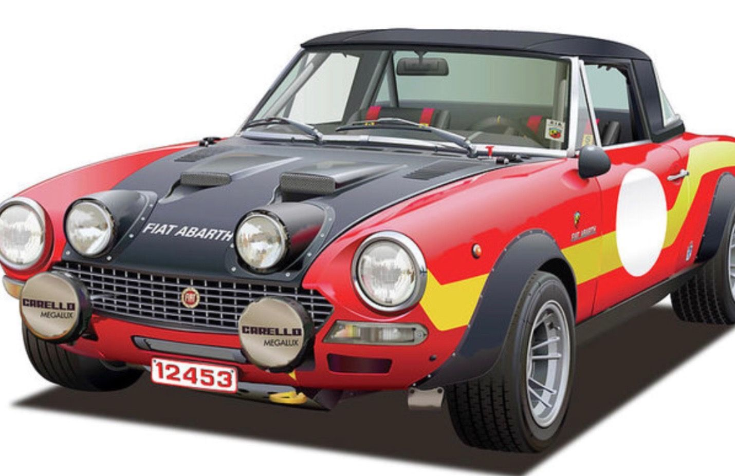 rally raced fiat 124 tuned by abarth auto crazed race rally rh pinterest com
