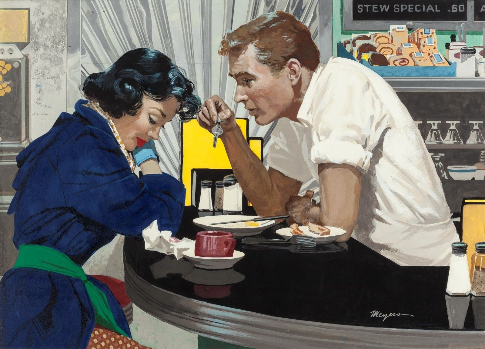 Image result for WHITCOMB vintage romance illustrations