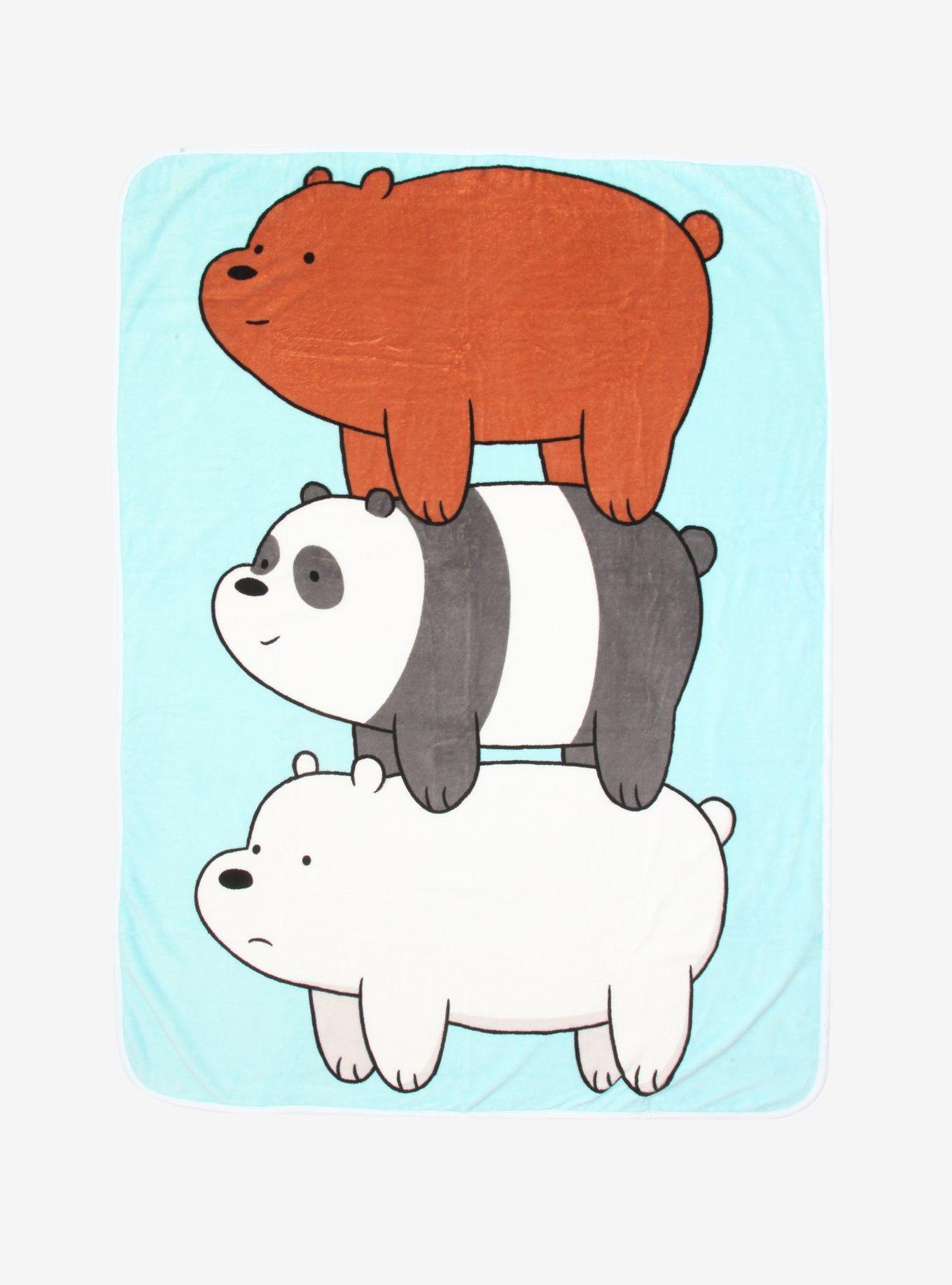 We Bare Bears Bear Stack Throw Blanket We Bare Bears Bare Bears Girls Cartoon Art