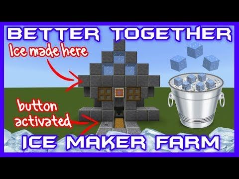 Better together compact ice maker tutorial youtube mc redstone better together compact ice maker tutorial youtube malvernweather Choice Image