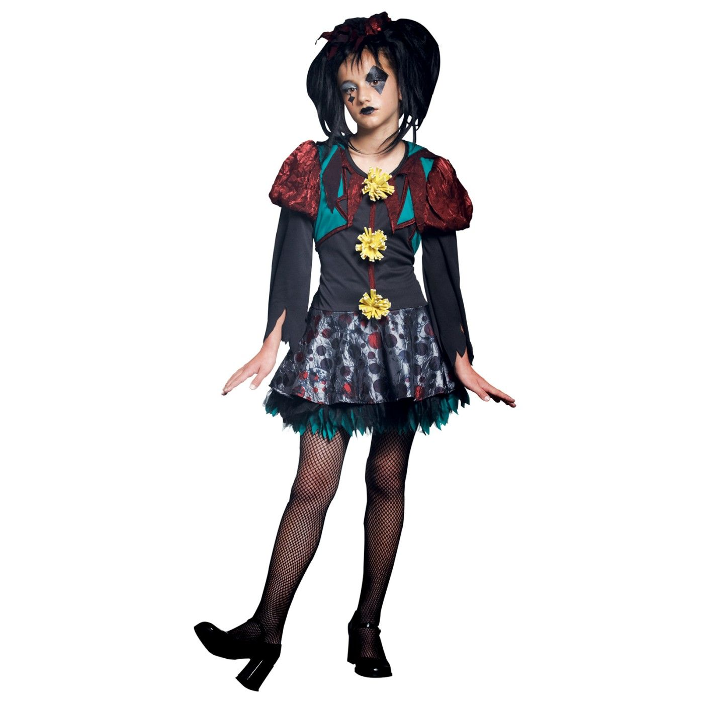 Gothic Scary Merry Girl Costume Halloween costumes for