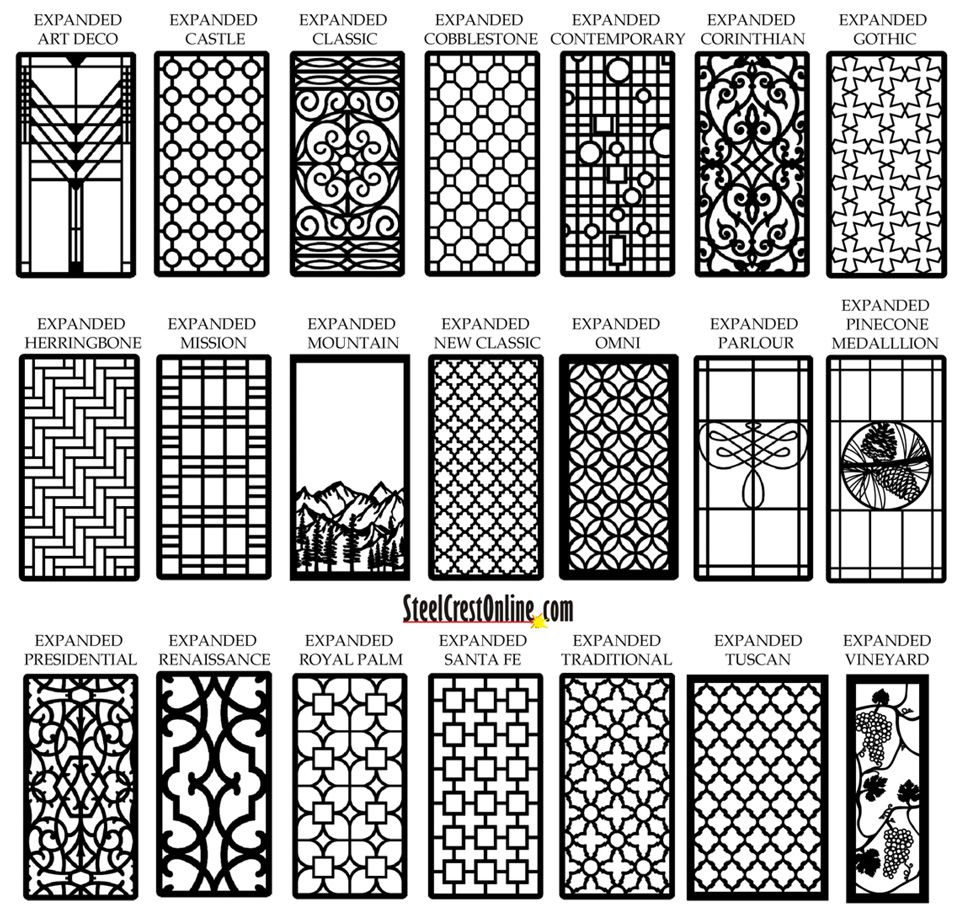 Custom cabinet/window/door inserts in a variety of patterns - would really help