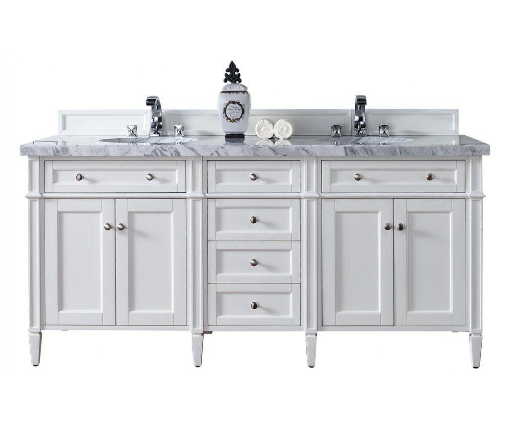 72 Brittany Double Bathroom Vanity Bright White Double Vanity Bathroom Bathroom Vanity Base Double Sink Bathroom Vanity