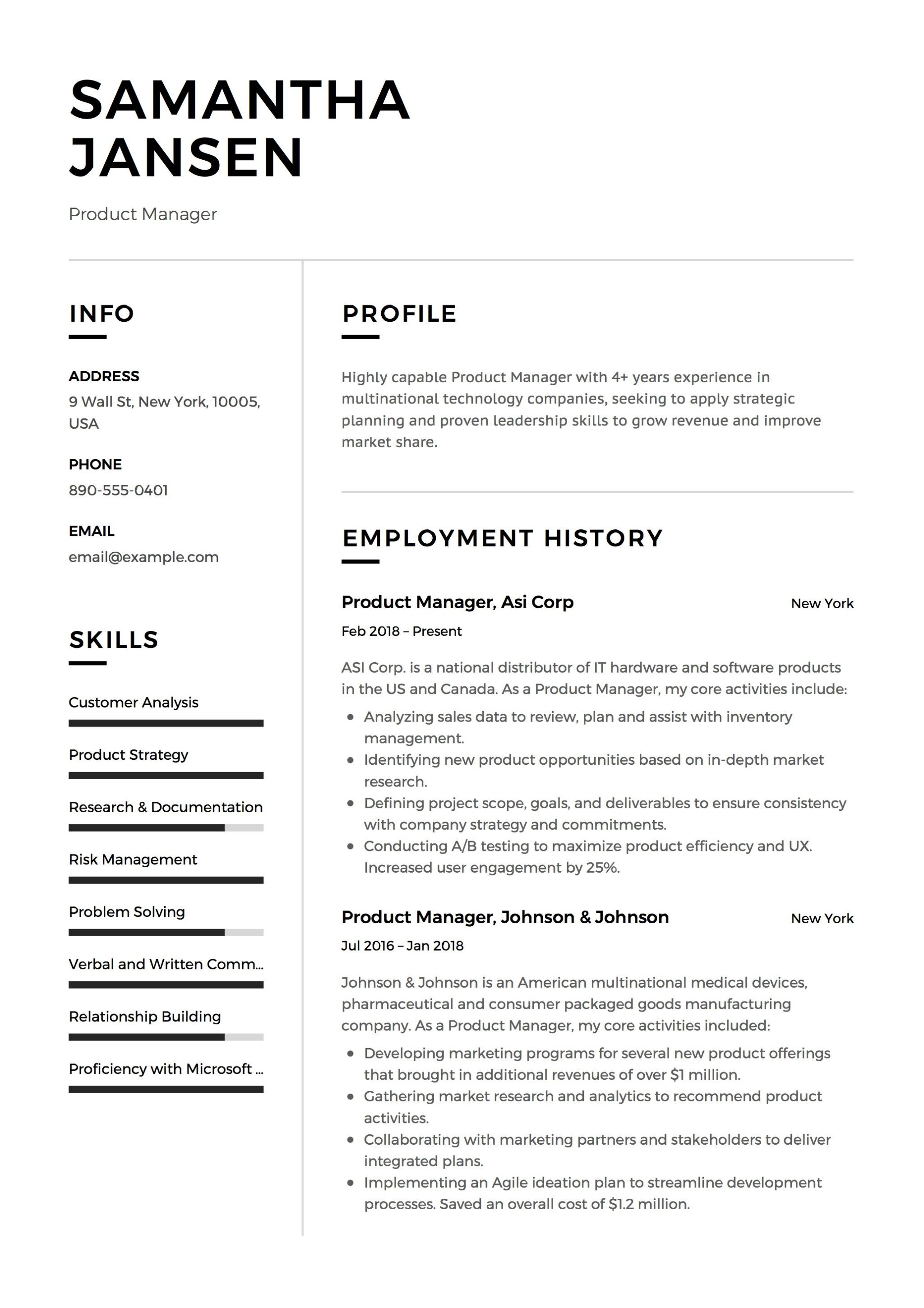 12 product manager resume samples 2018 free downloads brief summary for examples sample cv master scholarship pdf quality control engineer