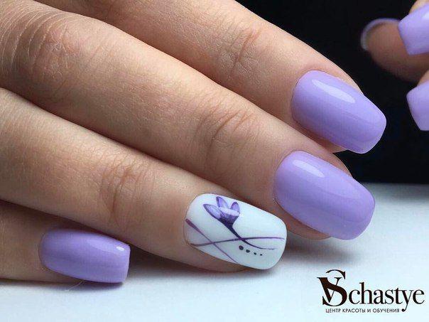 @pelikh_Маникюр | Видео уроки | Art Simple Nail Lilac Nails Design, Purple  Manicure, - Pelikh_Маникюр Видео уроки Art Simple Nail Nails Pinterest