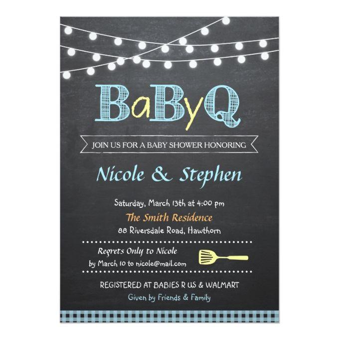"bbq baby shower invitation / babyq 5"" x 7"" invitation card   bbq, Baby shower invitations"