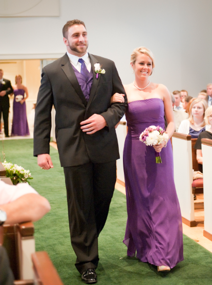 An action shot of Katie Allen's bridesmaid in her OuterInner bridesmaid dress