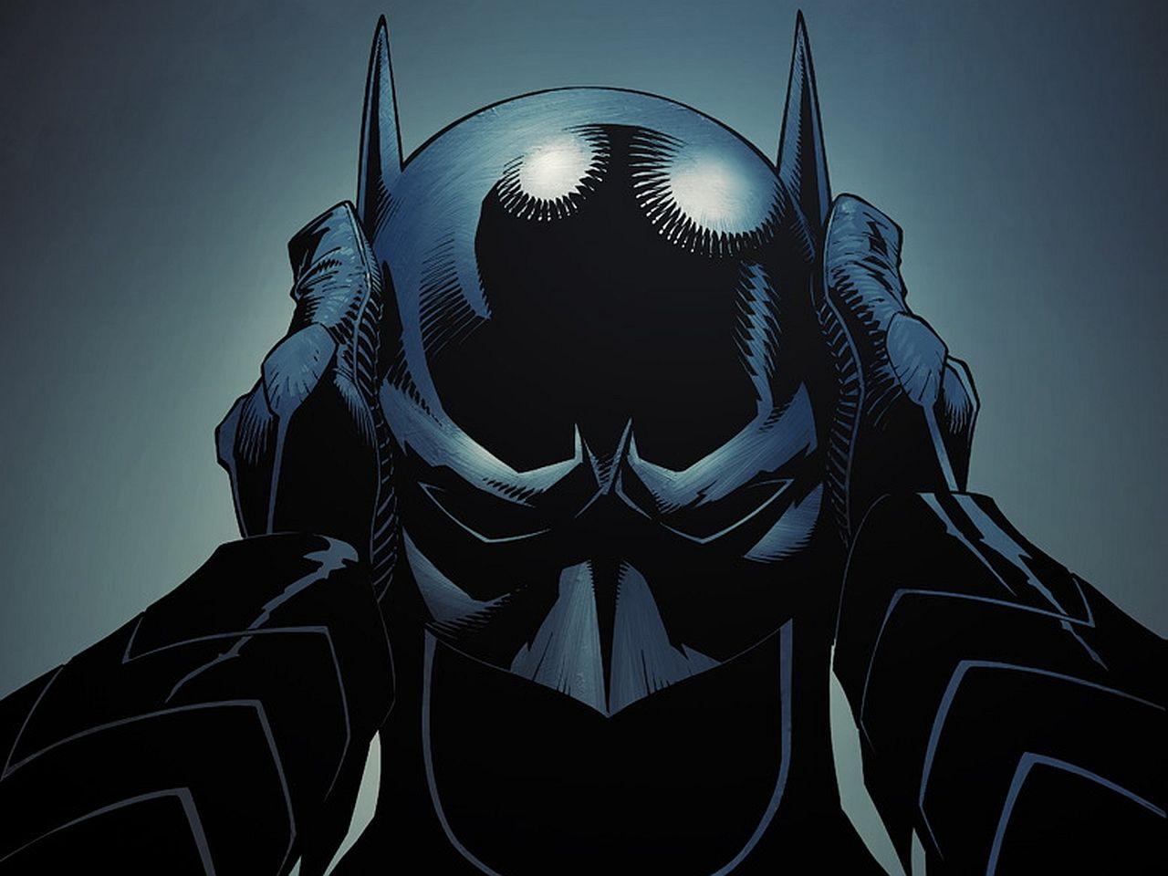 Batman Taking Cover Wallpaper Background
