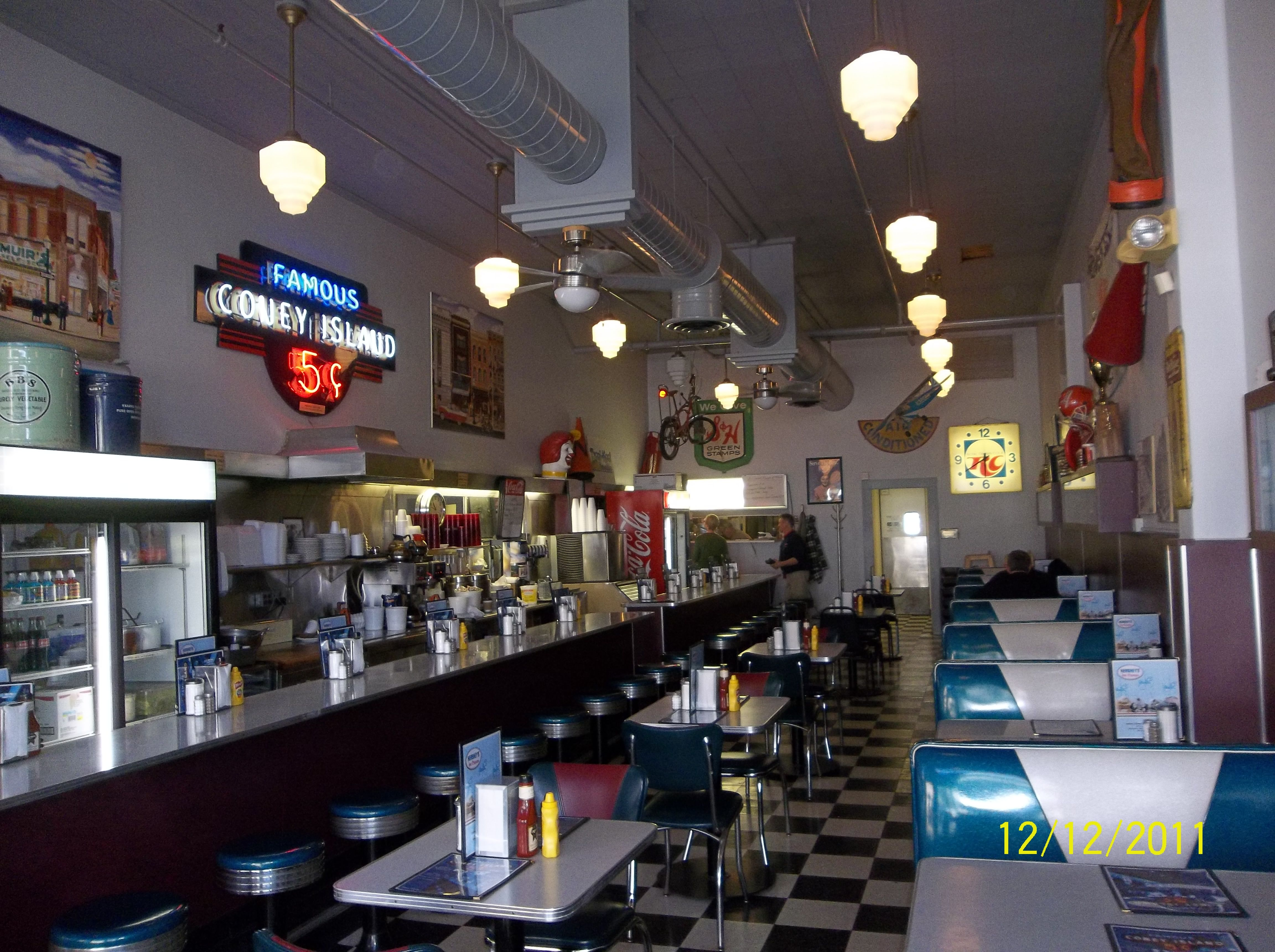 Interior Of The Coney Island Diner In Downtown Mansfield Ohio