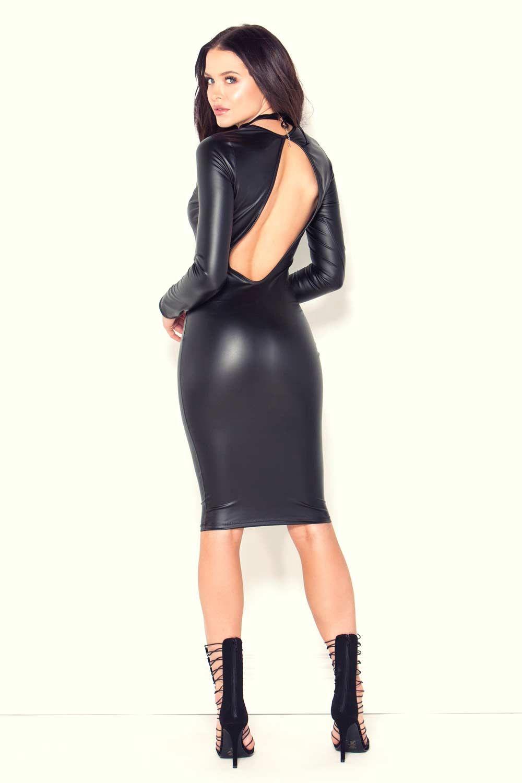 Mara Teigen photoshoot for GoJane #leatherbacklessdress ...