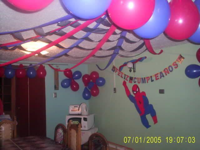 spiderman decor cumplea os spiderman pinterest papel. Black Bedroom Furniture Sets. Home Design Ideas
