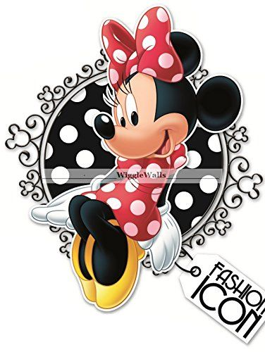 11 MINNIE Fashion Icon MOUSE BOW Mickey Removable Wall Decal Sticker Art Disney Home Decor 10 12 inches wide by 8 12 inches tall * Learn more by visiting the image link.