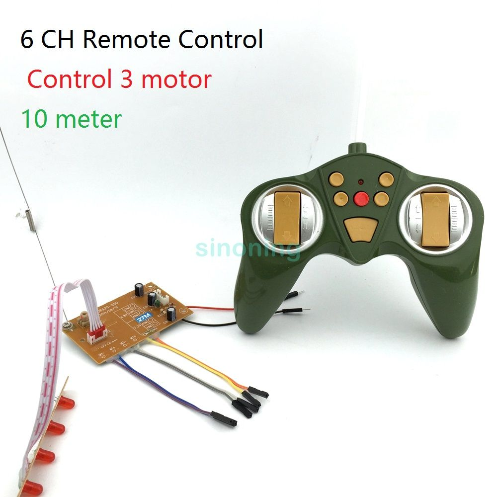 6ch 27 40mhz Rc Remote Control Module Transmitting Receiver For Tank Circuit Car Model