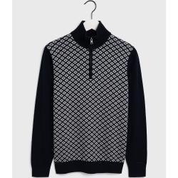 Photo of Gant Diamond Zip Sweater (Blau) Gant