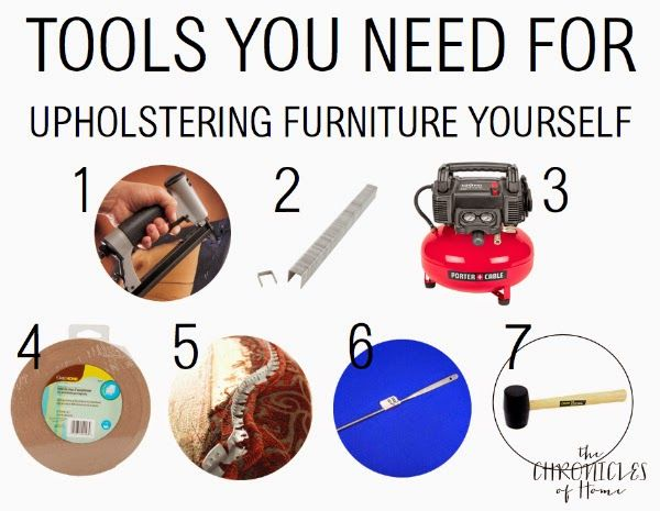 Essential tools for anyone looking to try upholstery at home! - from The Chronicles of Home