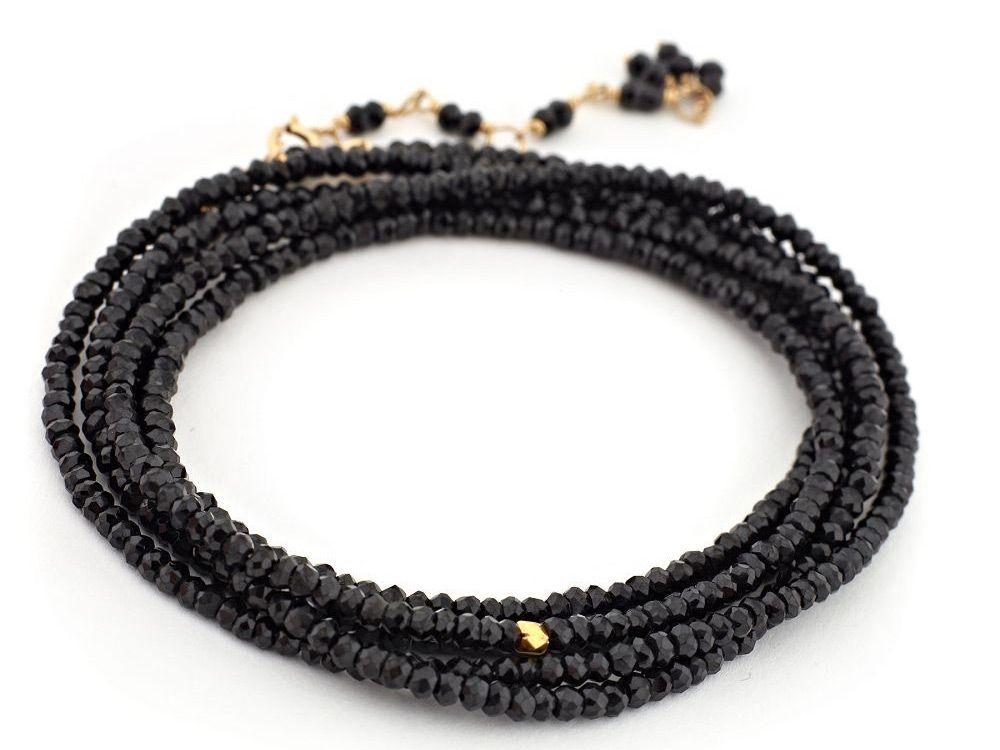 Anne Sportun black spinel bead wrap bracelet