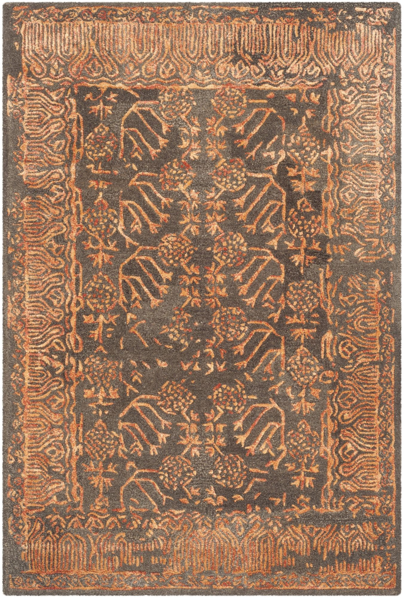 Sapphire Light Brown Rust Area Rug Products Pinterest Area
