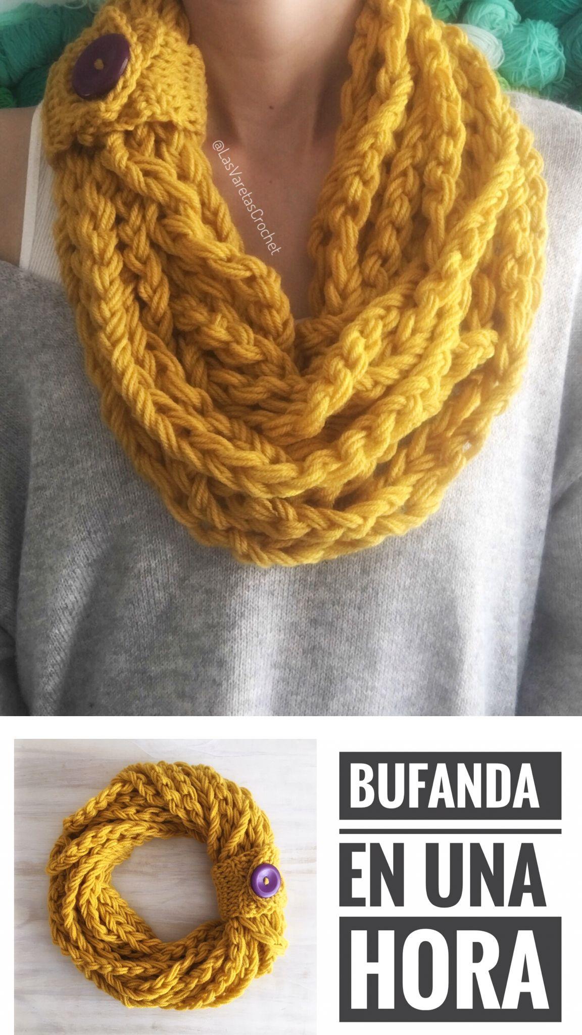 Bufanda Fácil a Crochet - Tutorial gratis - patrón gratuito ...