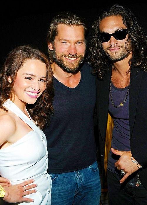 Emilia, Nikolaj and Jason, from Game Of Thrones television series