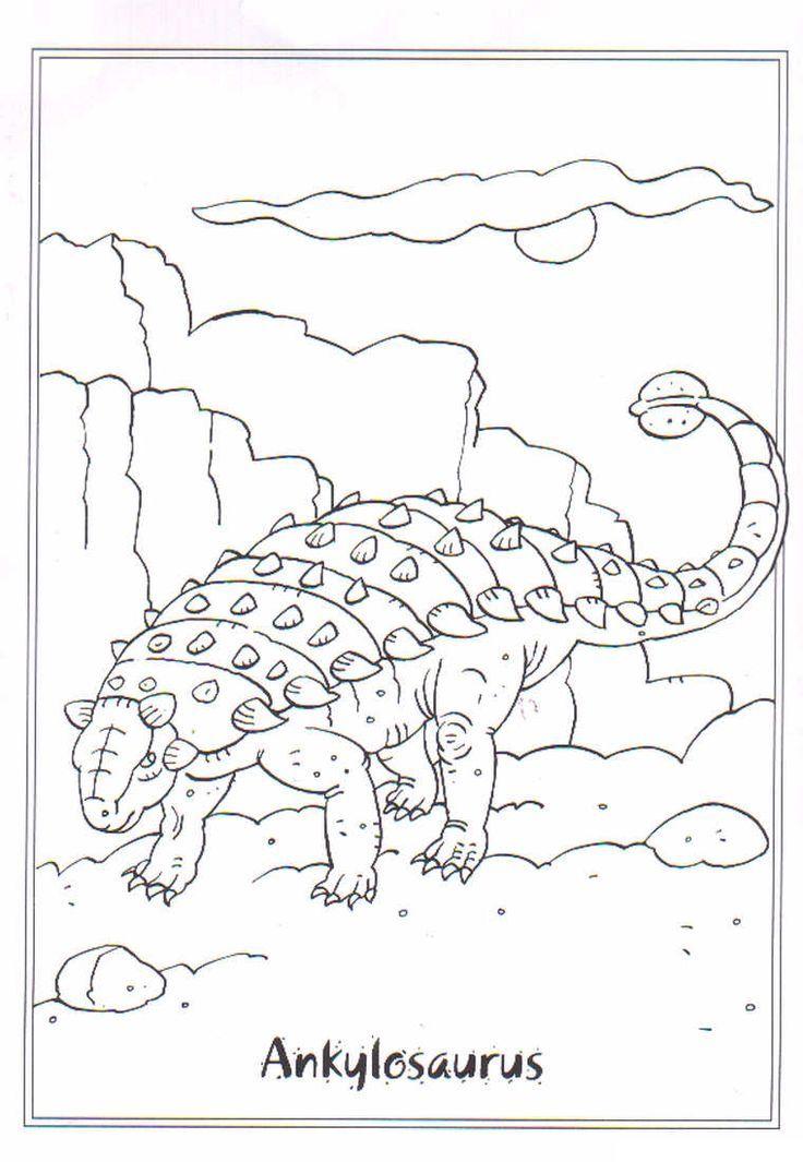 coloring page dinosaurs 2 ankylosaurus dinosaur