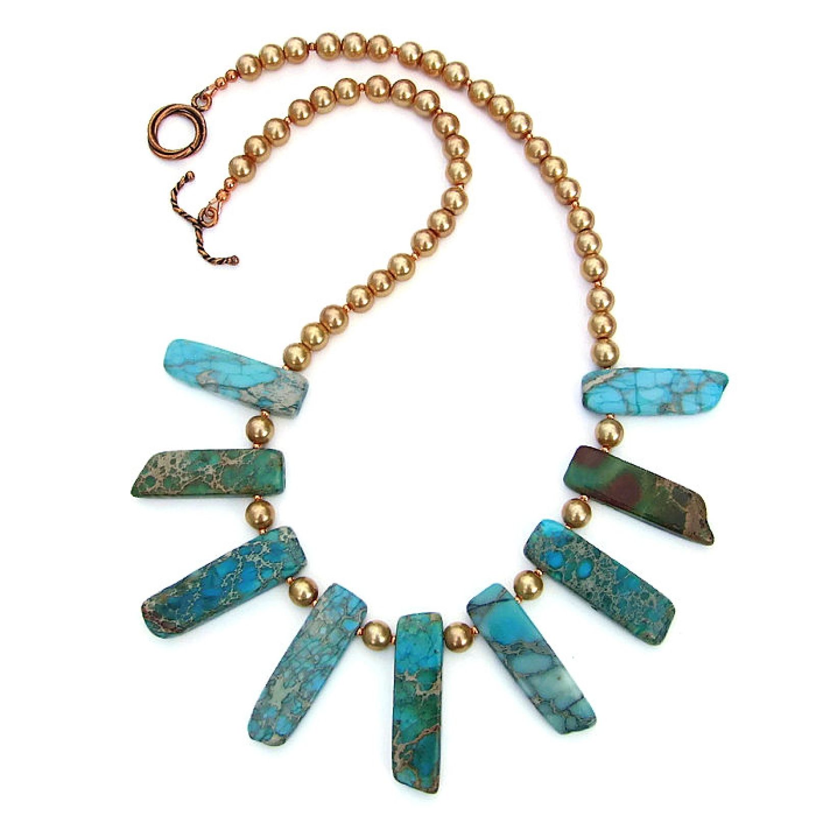 Exotic fashion jewelry - The Sea Sediment Jasper Sticks Are Dyed A Rich Aqua Color The Colors Of The Aqua Colorcollar Necklacejasperexoticfashion Jewelry Dyessticksrangegemstones
