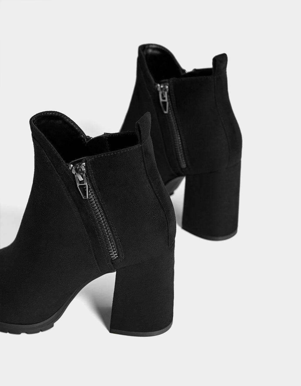 2ef078402 Členkové čižmy na podpätku so zipsom | s | Shoes, Heels a Heeled mules