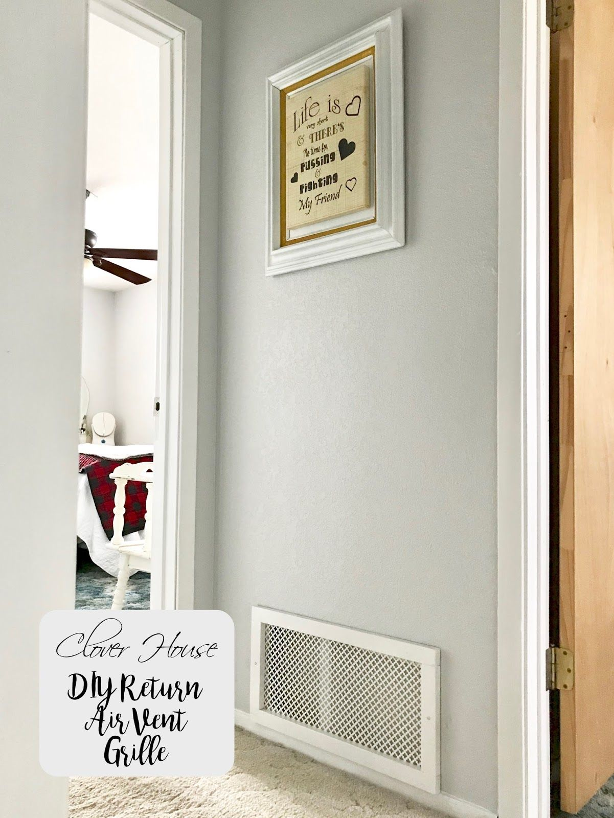 DIY Return Air Vent Grille Return air vent, Vent covers