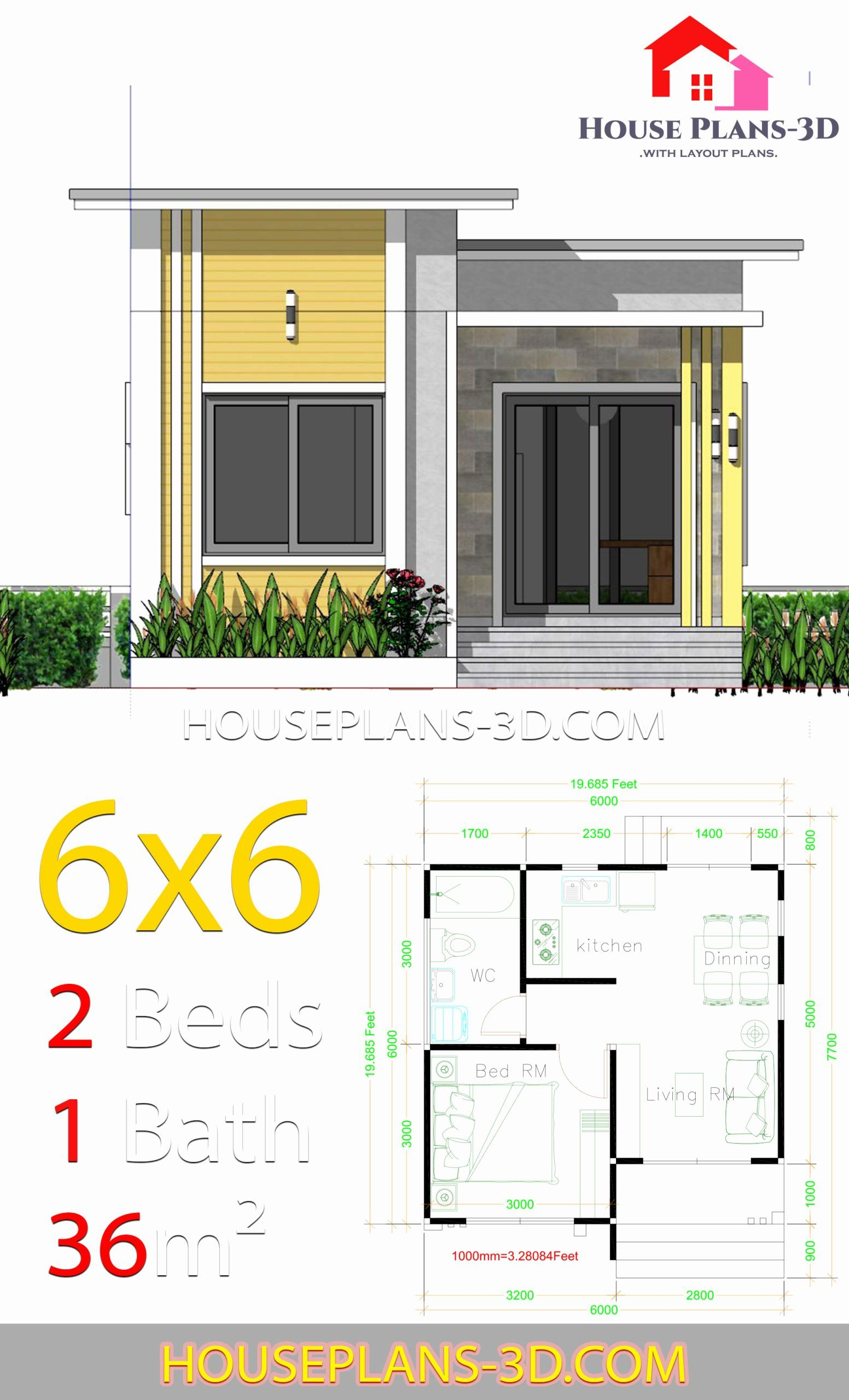 6 X 6 Bathroom Plans Elegant House Plans 6 6 With E Bedrooms Flat Roof House Plans 3d Tanjung Best Flat Roof House House Plans Unique House Plans