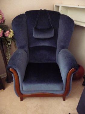 Möbel Solingen schöner gut erhaltener wohnzimmersessel sessel blau in nordrhein
