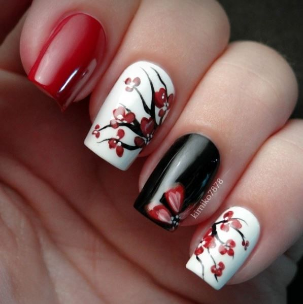Pin By Shanell Franklin On Nails Cherry Blossom Nails Nail Art