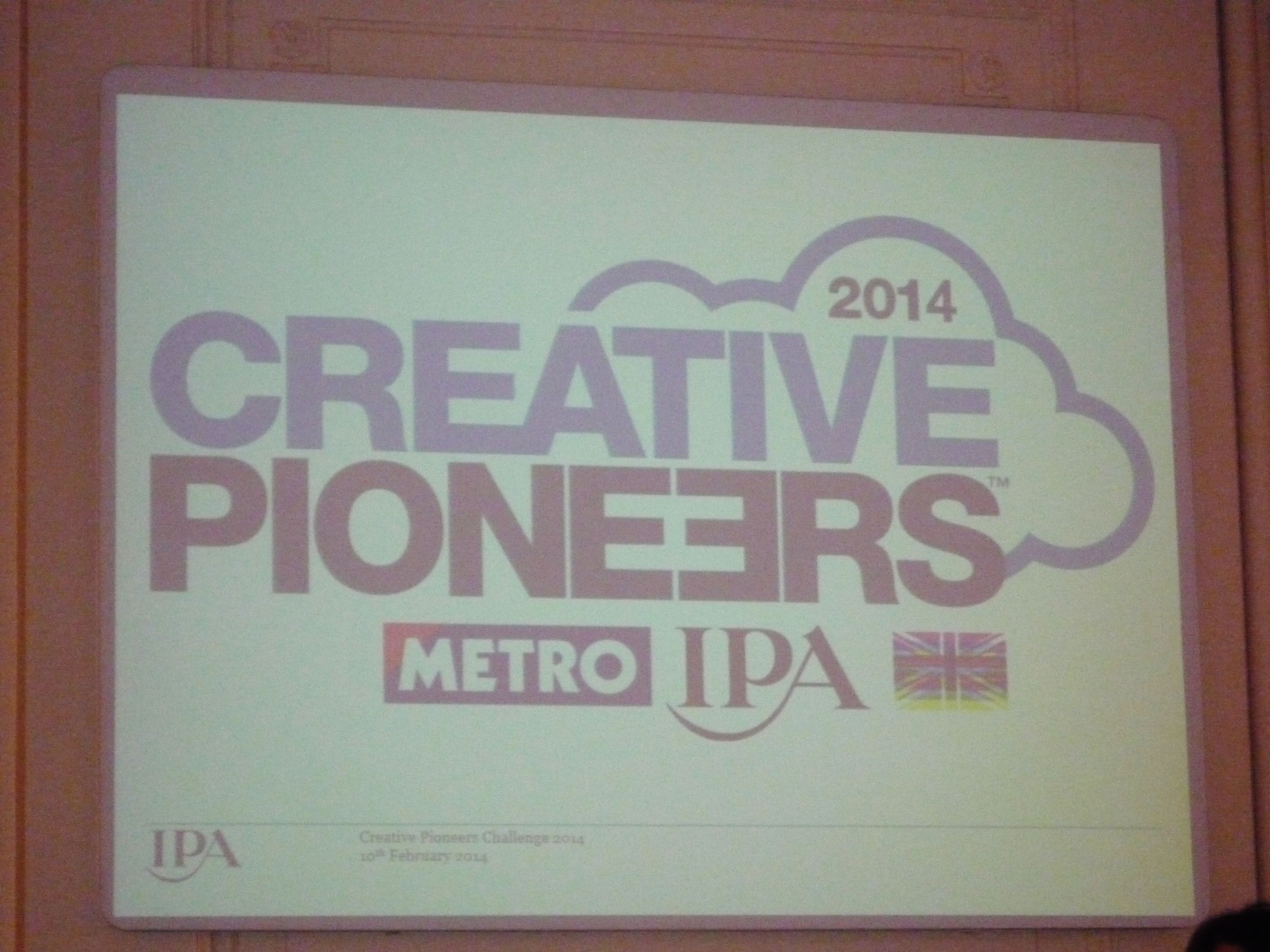 Introduction to the creative pioneers challange ipa