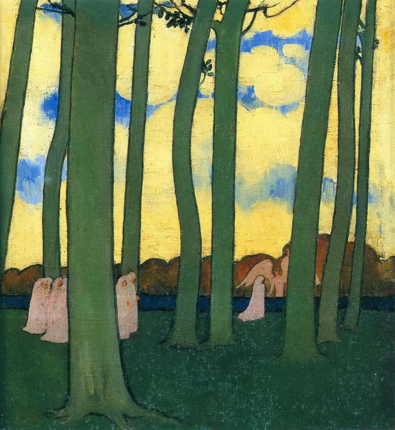 Green trees (Procession under the trees), 1893 | Oil on canvas ...