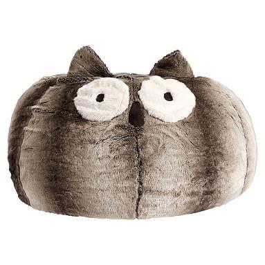 Owl Faux Fur Critter Beanbag Large Slip