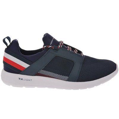 Ανδρικά παπούτσια casual TOMMY HILFIGER σε μπλέ χρώμα με λευκή σόλα. Τα  παπούτσια της TOMMY fa1433cff7c
