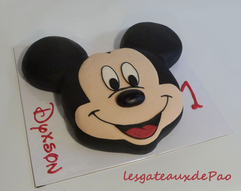 Tutoriel gateau mickey mickey pinterest g teaux th me mickey g teau et tuto - Gateau mickey facile ...