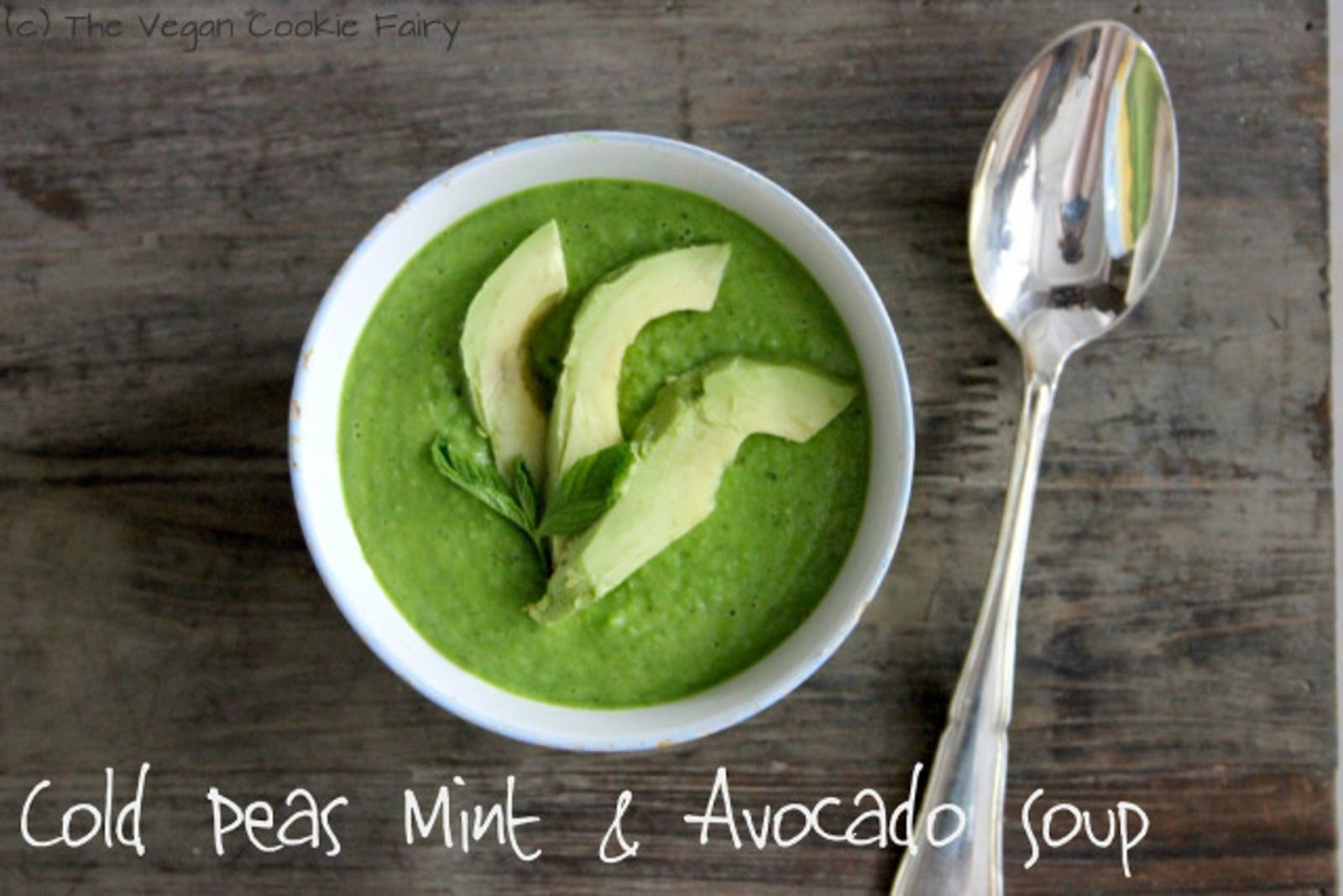 This raw soup of peas, mint, and avocado will make any raw food fiend love it.