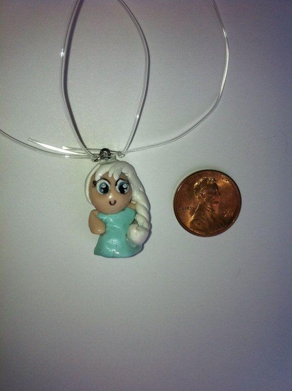 Mini little Anime style Princess Elsa from Disney Frozen charm! Let it Go!