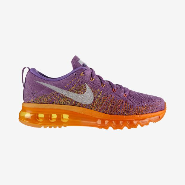 the best attitude 20d96 ababe Nike Flyknit Air Max Women s Running Shoe - Atomic Purple White-Total Orange  Style