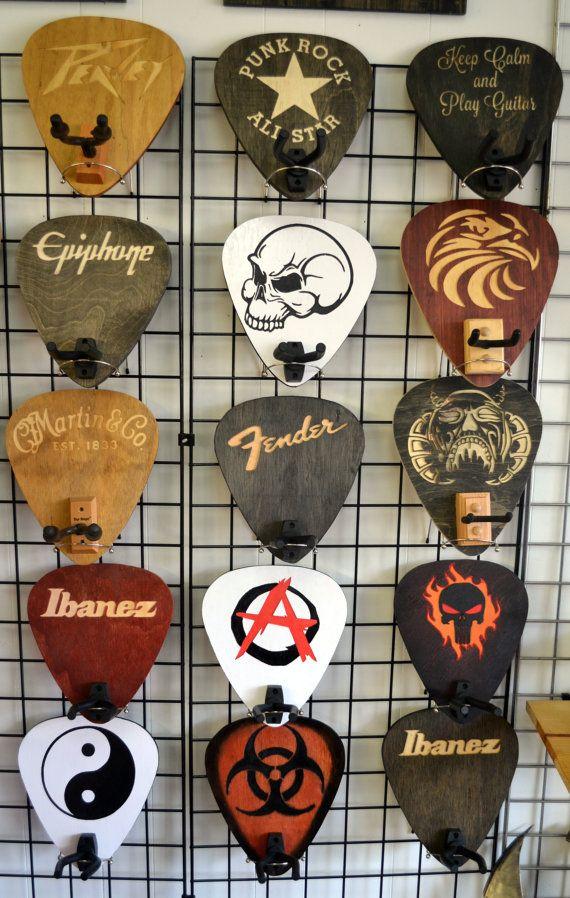 Custom Guitar Hanger / Guitar Holder / Guitar Hanger / Guitar Pick #customguitars