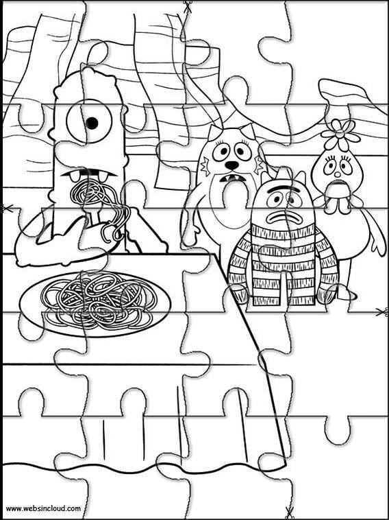 Aktivitäten für Kinder. Puzzlespiele Yo Gabba Gabba 18 ...