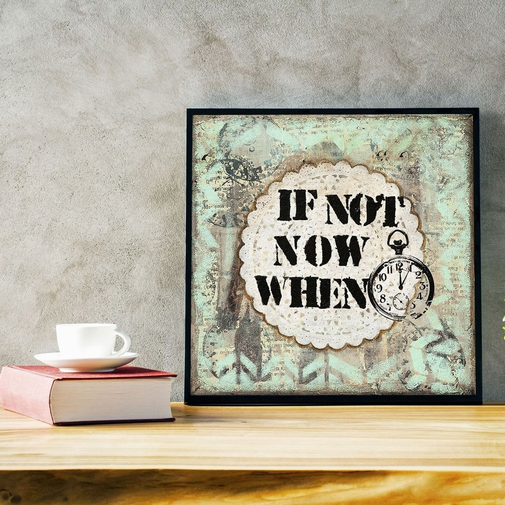 office wall art. Motivational Wall Decor - Inspirational Art Mixed Media Modern Office