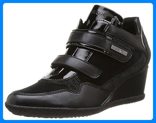 D Omaya A, Sneakers Basses Femme, Noir (Black), 41 EUGeox