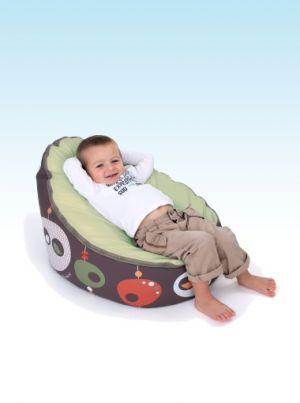 Doomoo Zitzak Lime.Doomoo Seat Bird Kaki Nursery Furniture Baby Accessories