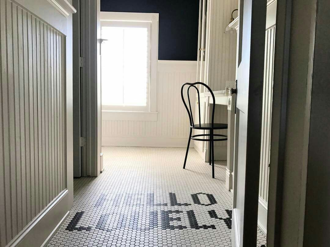 """Adorable tile lettering """"Hello Lovely"""" - photo posted by Joanna ... 
