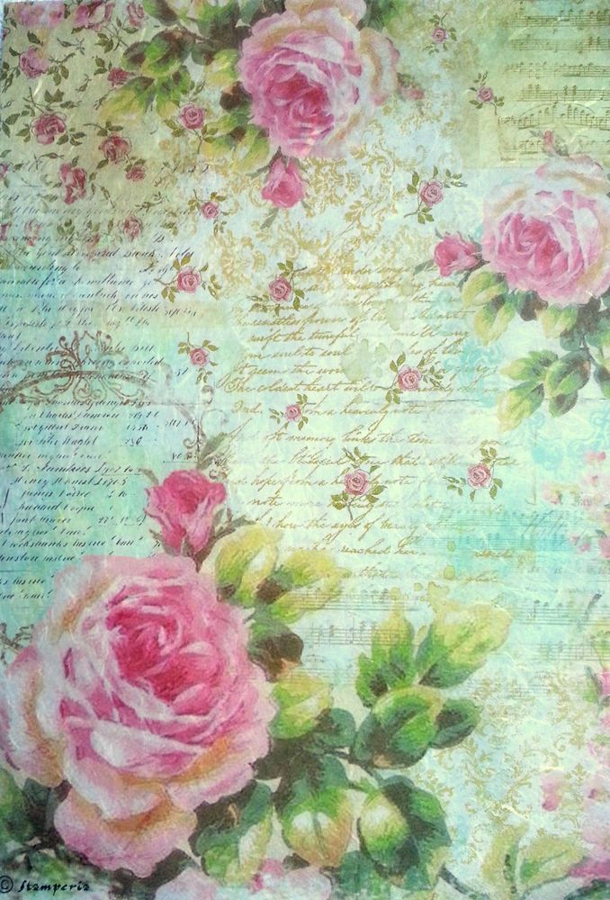 Rice Paper For Decoupage Decopatch Scrapbooking Sheet